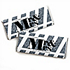Mr. & Mrs. - Silver - Personalized Candy Bar Wrappers Wedding Favors - Set of 24