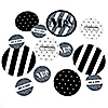 Mr. & Mrs. - Silver - Personalized Wedding Party Giant Circle Confetti - Princess Party Decorations - Large Confetti 27 Count