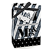 Mr. & Mrs. - Silver - Personalized Wedding Favor Boxes - Set of 12