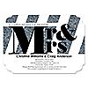 Mr. & Mrs. - Silver - Shaped Wedding Invitations - Set of 12