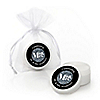Mr. & Mrs. - Silver - Personalized Wedding Lip Balm Favors - Set of 12
