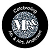 Mr. & Mrs. - Silver - Personalized Wedding Sticker Labels - 24 ct