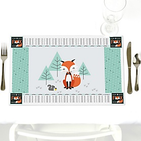 Mr. Foxy Fox - Party Table Decorations - Baby Shower Placemats - Set of 12