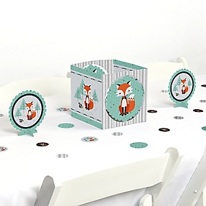 Mr. Foxy Fox - Baby Shower or Birthday Party Centerpiece and Table Decoration Kit