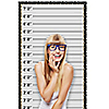 "Mug Shot - Photo Booth Height Chart Backdrop - 36"" x 60"""