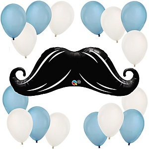 Mustache - Baby Shower Balloon Kit