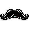 """Mustache - Birthday Party Mylar Balloon - 42"""""""