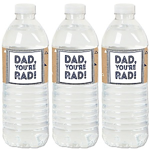 My Dad is Rad - Father's Party Water Bottle Sticker Labels - Set of 20