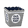 My Dad is Rad - Party Mini Favor Boxes - Personalized Father's Day Party Treat Candy Boxes - Set of 12