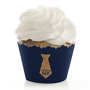 My Dad is Rad - Father's Day Party Decorations - Party Cupcake Wrappers - Set of 12