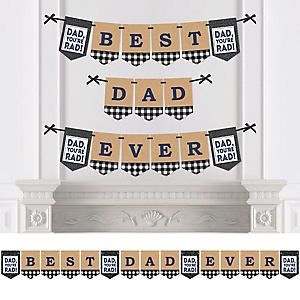 My Dad is Rad - Personalized Father's Day Party Bunting Banner & Decorations