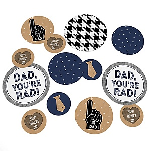 My Dad is Rad - Father's Day Party Giant Circle Confetti - Father's Day Party Decorations - Large Confetti 27 Count