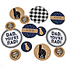 My Dad is Rad - Personalized Father's Day Party Giant Circle Confetti - Father's Day Party Decorations - Large Confetti 27 Count