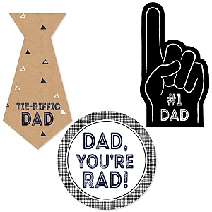 My Dad is Rad - 24 DIY Shaped Father's Day Cut-Outs