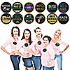 NOLA Bride Squad - New Orleans Bachelorette Party Name Tags - Party Badges Sticker Set of 12