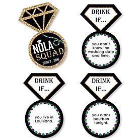 Drink If... NOLA Bride Squad Bachelorette Party Game - Set of 24