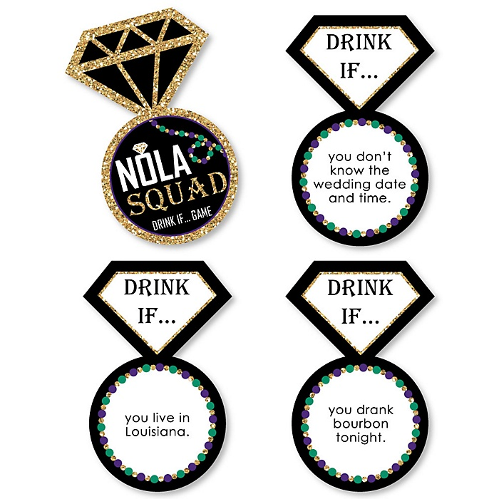 Drink If... NOLA Bride Squad Bachelorette Party Game - Set of 24