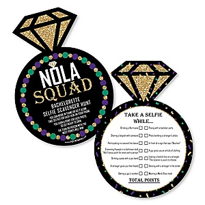 NOLA Bride Squad - Selfie Scavenger Hunt - New Orleans Bachelorette Party Game - Set of 12