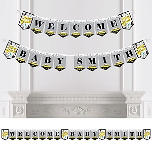 NYC Cityscape - Personalized New York City Baby Shower Bunting Banner and Decorations