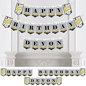 NYC Cityscape - Personalized New York City Birthday Party Bunting Banner & Decorations