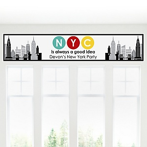 NYC Cityscape - Personalized New York City Party Banner