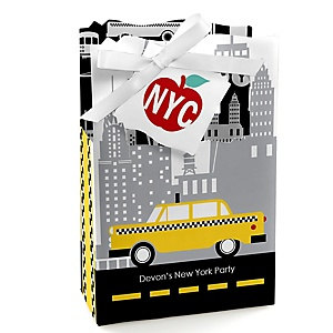 NYC Cityscape - Personalized New York City Party Favor Boxes - Set of 12