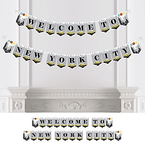 NYC Cityscape - New York City Party Bunting Banner - Party Decorations - Welcome to New York City