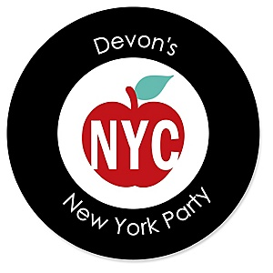NYC Cityscape - Personalized New York City Party Sticker Labels - 24 ct