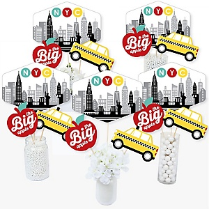NYC Cityscape - New York City Party Centerpiece Sticks - Table Toppers - Set of 15