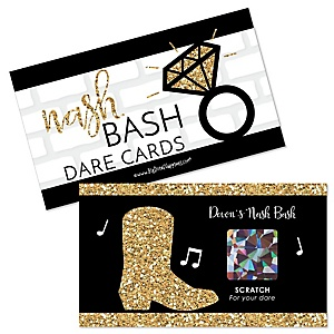 Nash Bash - Personalized Nashville Bachelorette Party Game Scratch Off Dare Cards - 22 ct