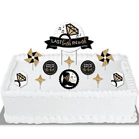 Nash Bash - Nashville Bachelorette Party Cake Decorating Kit - Last Bash in Nash Cake Topper Set - 11 Pieces