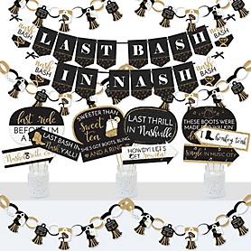 Nash Bash - Banner and Photo Booth Decorations - Nashville Bachelorette Party Supplies Kit - Doterrific Bundle