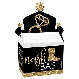 Nash Bash - Treat Box Party Favors - Nashville Bachelorette Party Goodie Gable Boxes - Set of 12