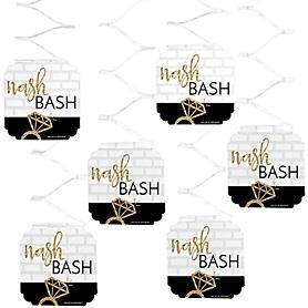 Nash Bash - Nashville Bachelorette Party Hanging Decorations - 6 ct