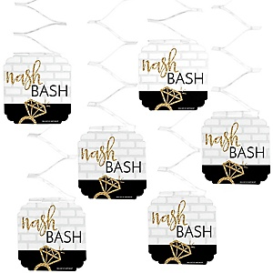 Nash Bash - Nashville Bachelorette Party Hanging Decorations - 6 ct