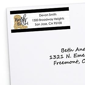 Nash Bash - Personalized Nashville Bachelorette Party Return Address Labels - 30 ct