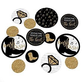 Nash Bash - Nashville Bachelorette Party Giant Circle Confetti - Party Decorations - Large Confetti 27 Count
