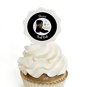Nash Bash - Cupcake Picks with Personalized Stickers - Nashville Bachelorette Party Cupcake Toppers - 12 ct