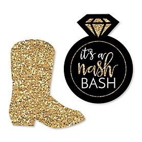 Nash Bash - DIY Shaped Nashville Bachelorette Party Cut-Outs - 24 ct