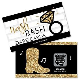 Nash Bash - Nashville Bachelorette Party Game Scratch Off Dare Cards - 22 ct