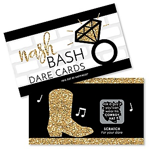 Nash Bash - Nashville Bachelorette Party Game Scratch Off Dare Cards - 22 ct