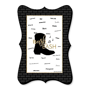 Nash Bash - Unique Alternative Guest Book - Nashville Bachelorette Party Signature Mat