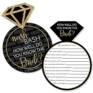 Nash Bash - Nashville Bachelorette Party Game - How Well Do You Know The Bride Game - Set of 20