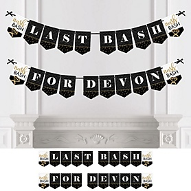 Nash Bash - Personalized Nashville Bachelorette Party Bunting Banner and Decorations