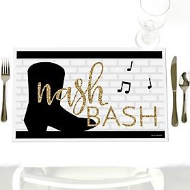 Nash Bash - Party Table Decorations - Nashville Bachelorette Party Placemats - Set of 12