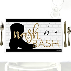 Nash Bash - Party Table Decorations - Nashville Bachelorette Party Placemats - Set of 12