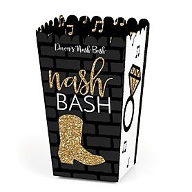 Nash Bash - Personalized Nashville Bachelorette Party Popcorn Favor Treat Boxes - Set of 12