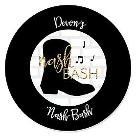 Nash Bash - Personalized Nashville Bachelorette Party Sticker Labels - 24 ct
