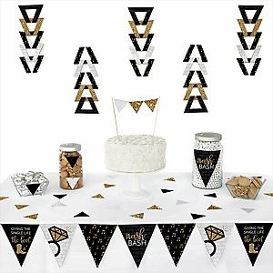 Nash Bash -  Triangle Nashville Bachelorette Party Decoration Kit - 72 Piece