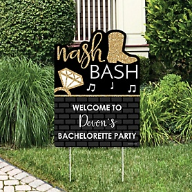Nash Bash - Party Decorations - Nashville Bachelorette Party Personalized Welcome Yard Sign